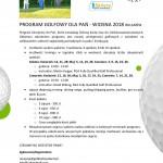 Program golfowy dla pań 2018
